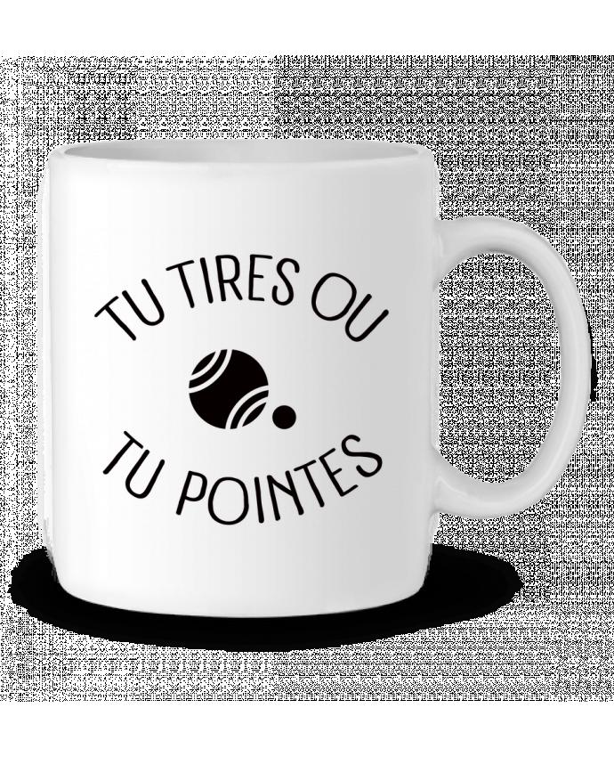 Taza Cerámica Tu Tires Ou Tu Pointes por Freeyourshirt.com