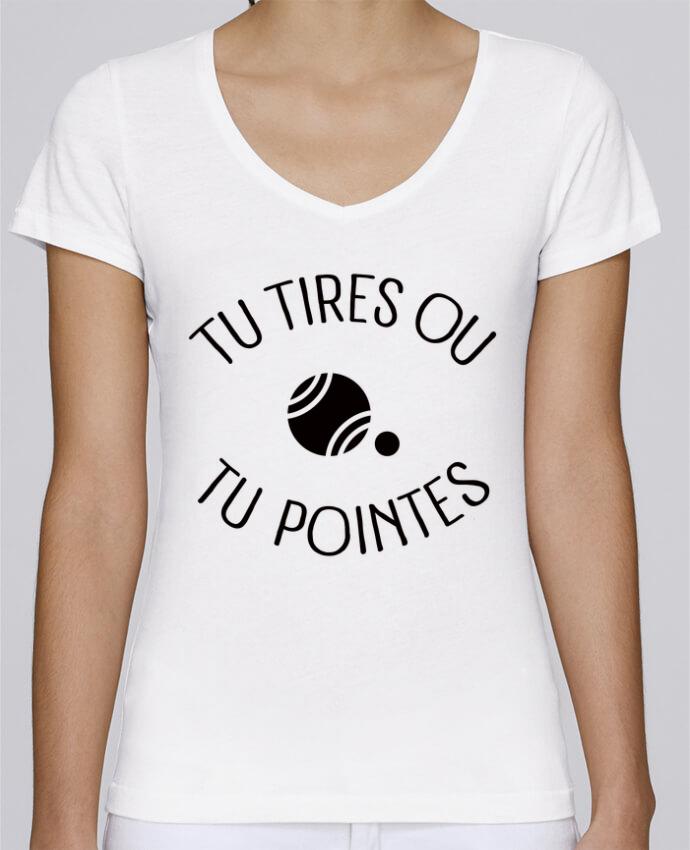 Camiseta Mujer Cuello en V Stella Chooses Tu Tires Ou Tu Pointes por Freeyourshirt.com