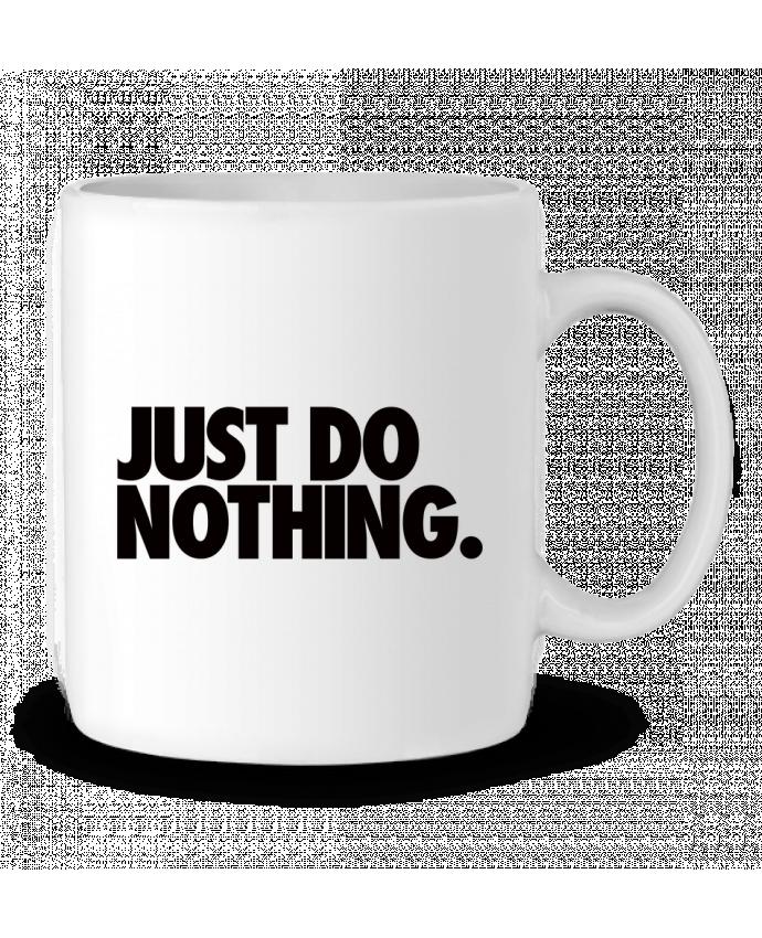 Taza Cerámica Just Do Nothing por Freeyourshirt.com