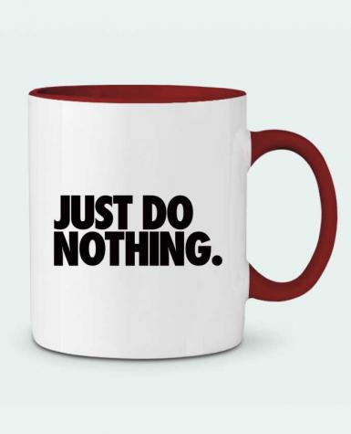 Taza Cerámica Bicolor Just Do Nothing Freeyourshirt.com
