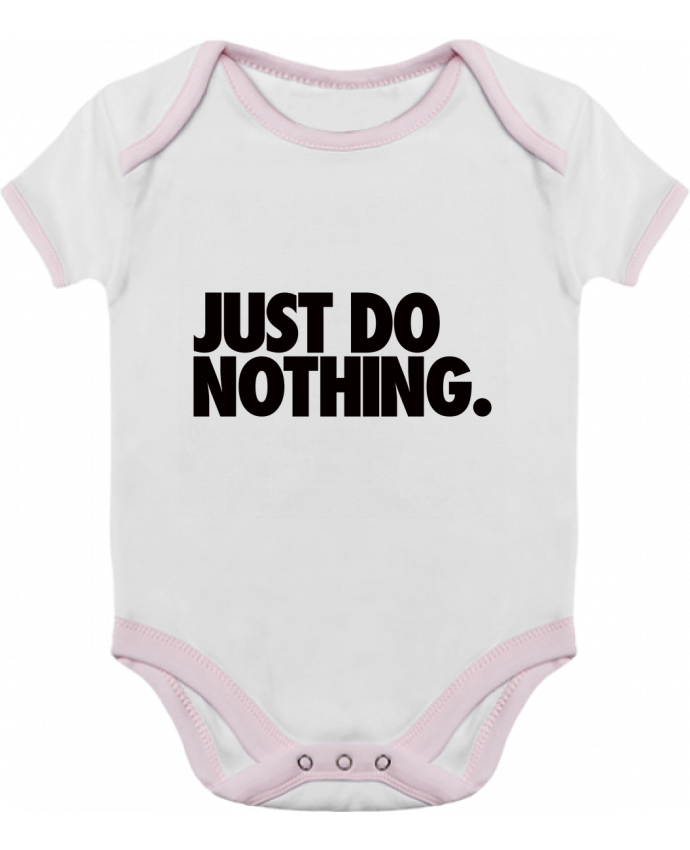 Body Bebé Contraste Just Do Nothing por Freeyourshirt.com