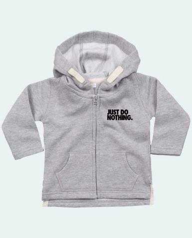 Sudadera Capucha con Cermallera Just Do Nothing por Freeyourshirt.com
