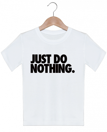 T-shirt garçon motif Just Do Nothing Freeyourshirt.com