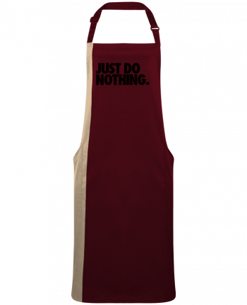 Delantal Bicolor Just Do Nothing por  Freeyourshirt.com