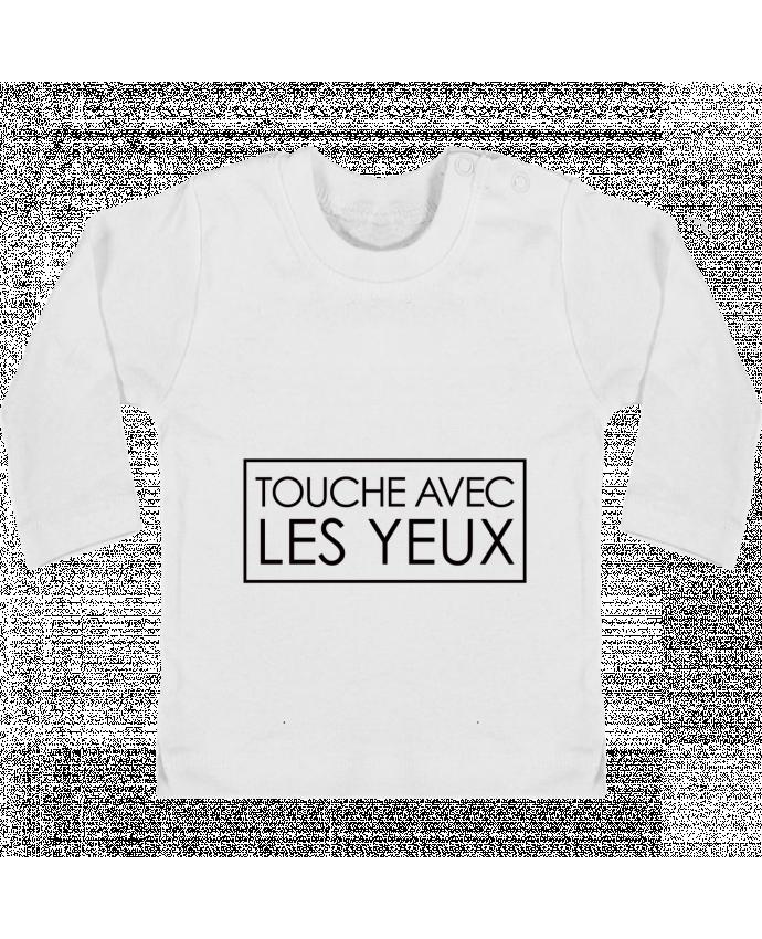 Camiseta Bebé Manga Larga con Botones  Touche avec les yeux manches longues du designer Freeyourshirt.com