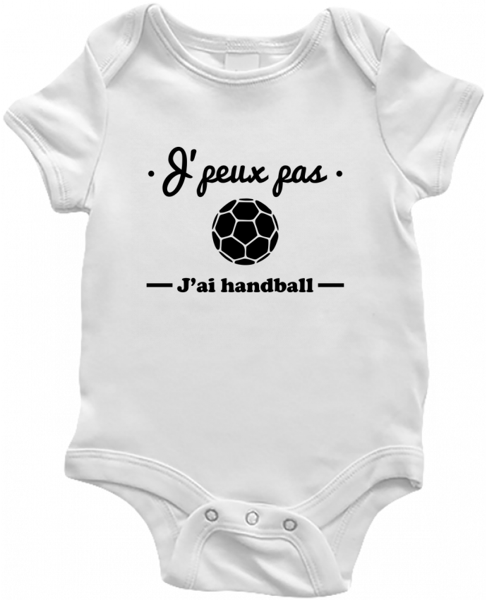 Body Bebé J'peux pas j'ai handball ,  tee shirt handball, hand por Benichan