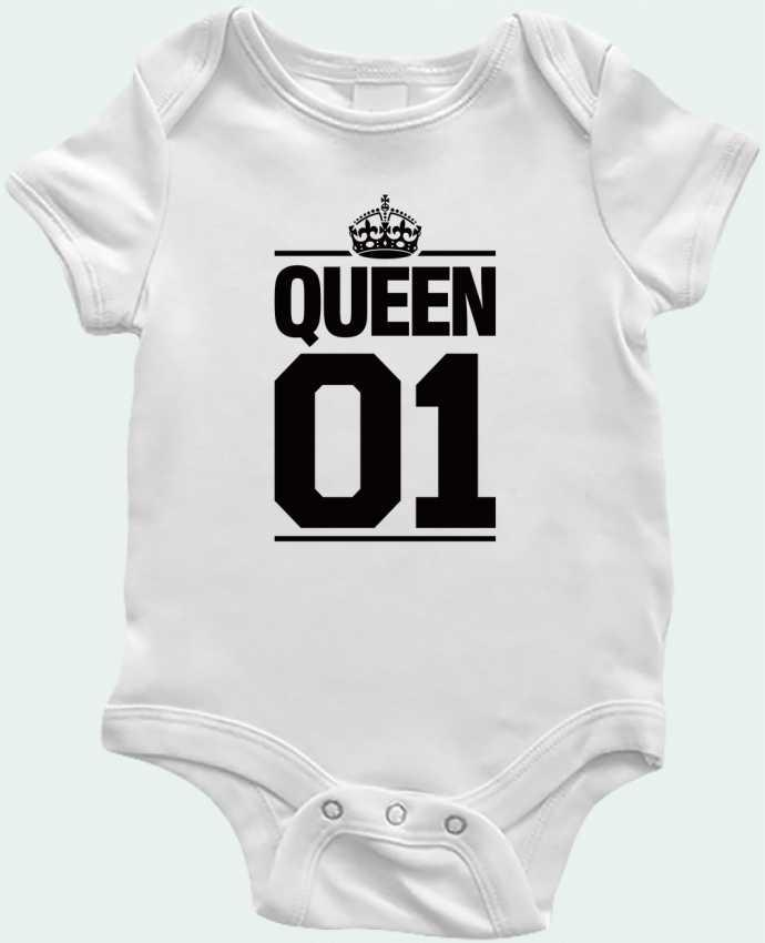 Body Bebé Queen 01 por Freeyourshirt.com
