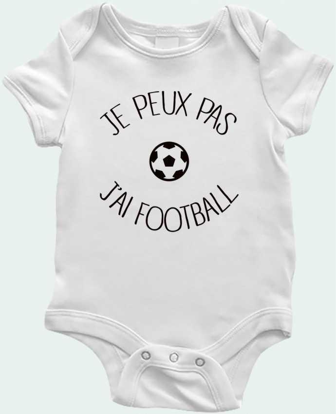 Body Bebé Je peux pas j'ai Football por Freeyourshirt.com