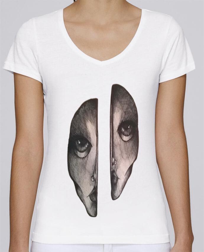 Camiseta Mujer Cuello en V Stella Chooses Headache por OhHelloGuys!