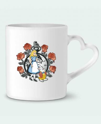 Taza Corazón Time for Wonderland por Kempo24