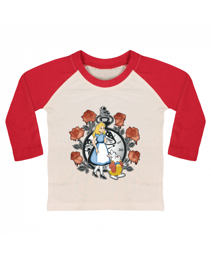 Camiseta Bebé Béisbol Manga Larga Time for Wonderland por Kempo24