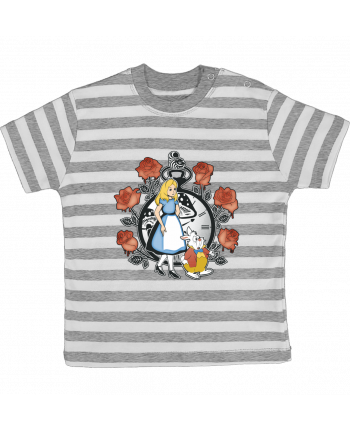 Camiseta Bebé a Rayas Time for Wonderland por Kempo24