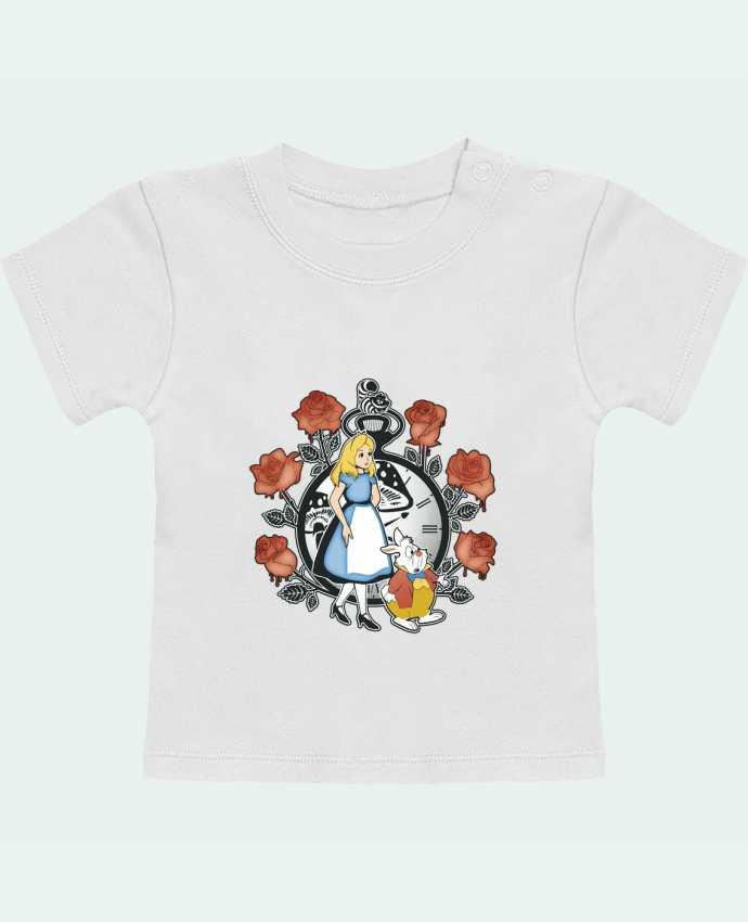 Camiseta Bebé Manga Corta Time for Wonderland manches courtes du designer Kempo24