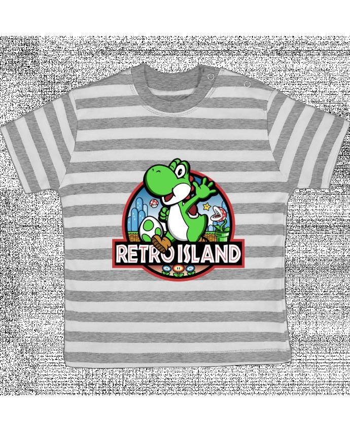 Camiseta Bebé a Rayas Retro Park por Kempo24