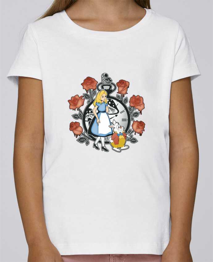 Camiseta Niña Stella Draws Time for Wonderland por Kempo24