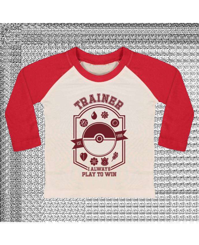 Camiseta Bebé Béisbol Manga Larga Trainer since 1999 por Kempo24