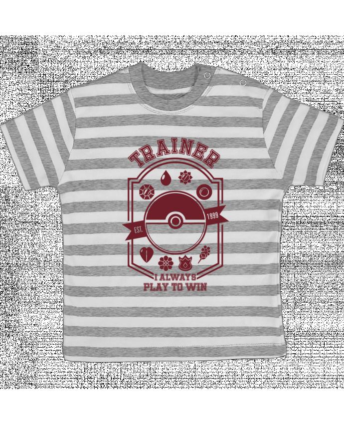 Camiseta Bebé a Rayas Trainer since 1999 por Kempo24