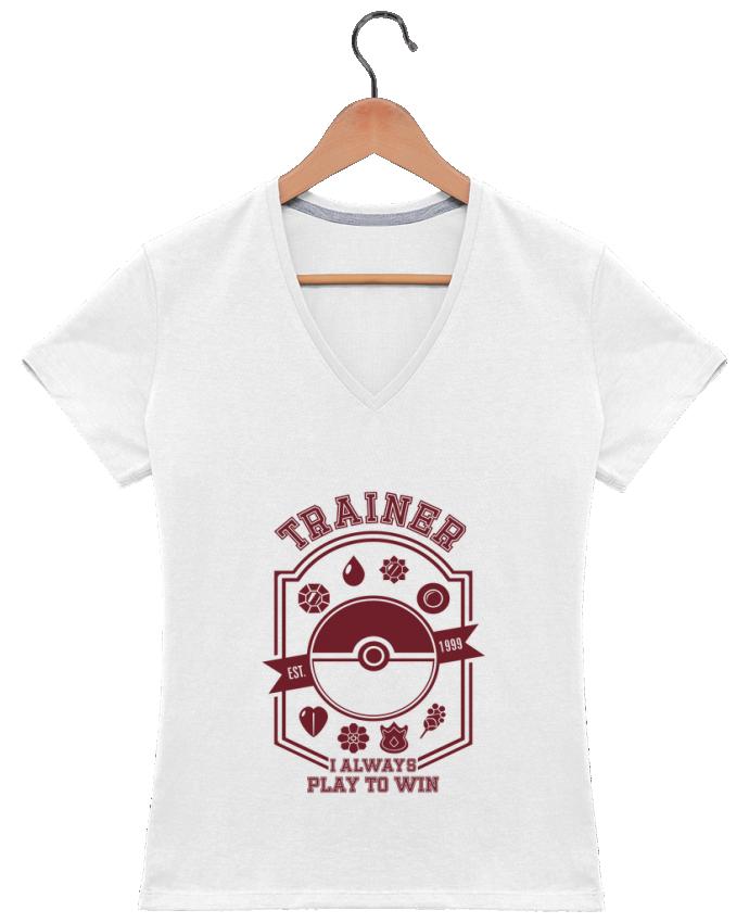 Camiseta Mujer Cuello en V Trainer since 1999 por Kempo24