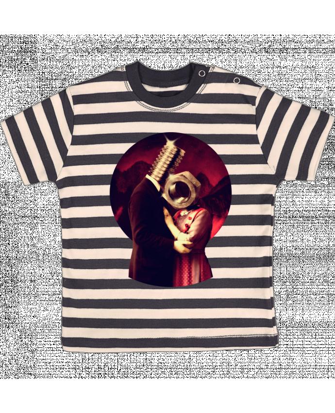 Camiseta Bebé a Rayas Screw Love por ali_gulec