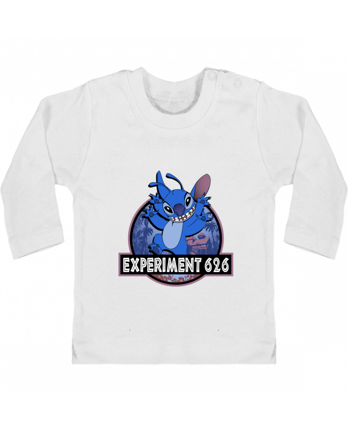 Camiseta Bebé Manga Larga con Botones  Experiment 626 manches longues du designer Kempo24