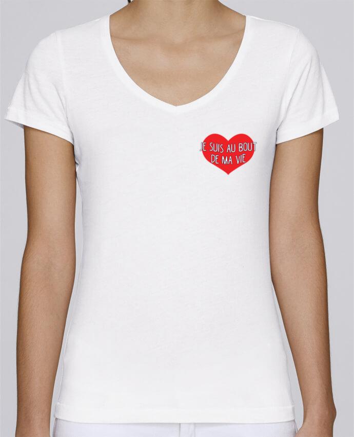 Camiseta Mujer Cuello en V Stella Chooses Je suis au bout de ma vie por tunetoo