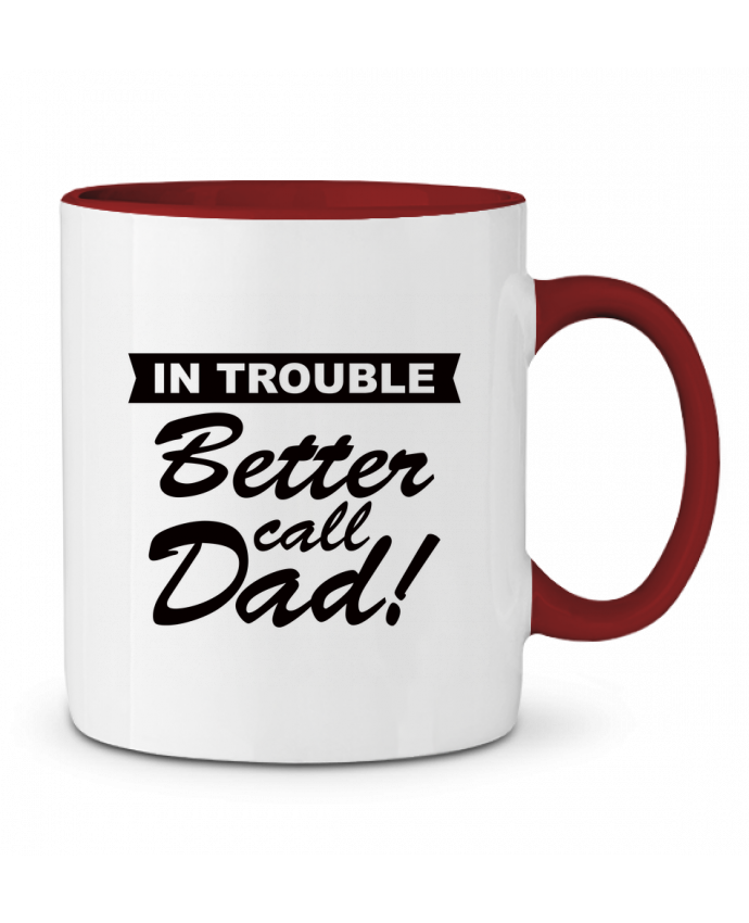 Taza Cerámica Bicolor Better call dad Freeyourshirt.com