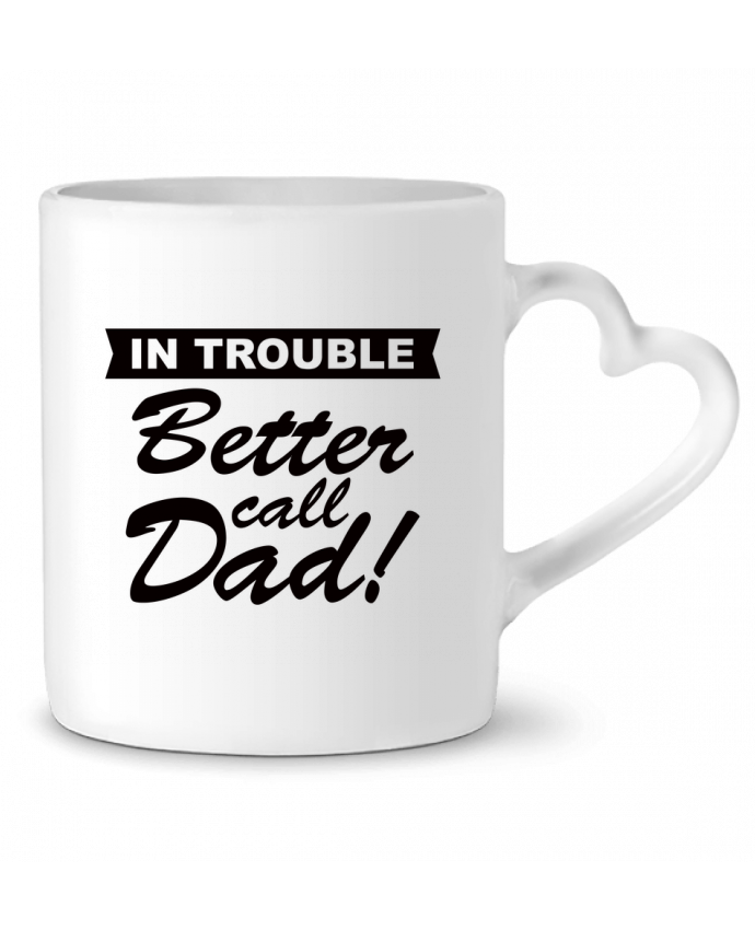 Taza Corazón Better call dad por Freeyourshirt.com