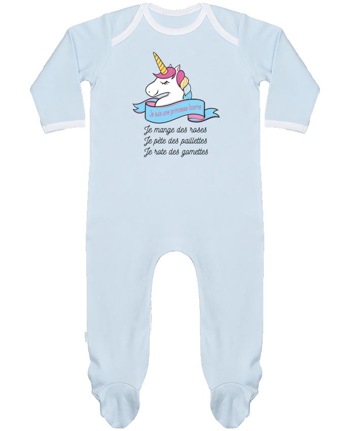 Pijama Bebé Manga Larga Contraste Je suis une princesse licorne por tunetoo