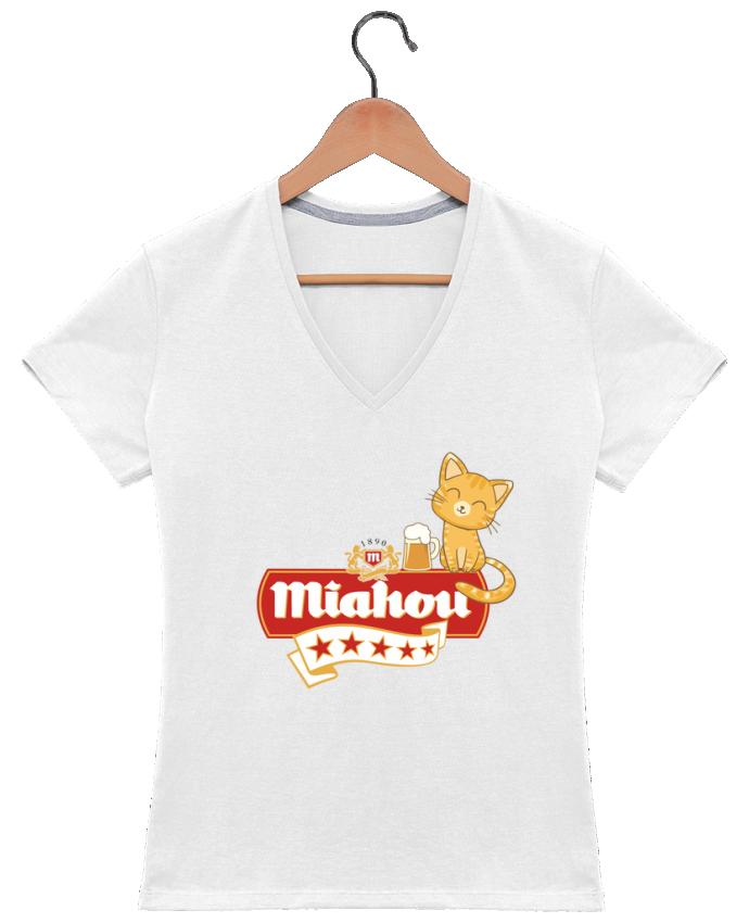 Camiseta Mujer Cuello en V Miahou por ParanoiaRecords