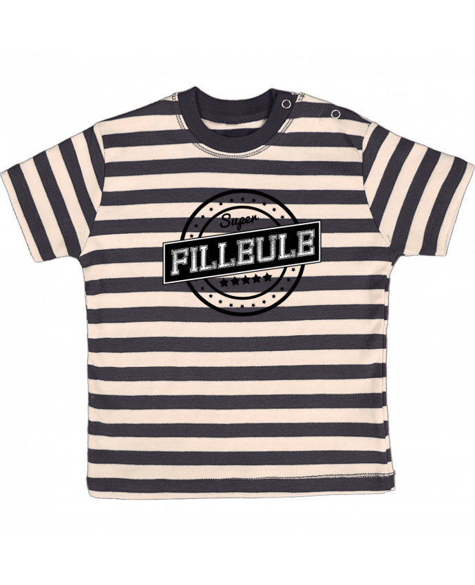 Camiseta Bebé a Rayas Super filleule por justsayin