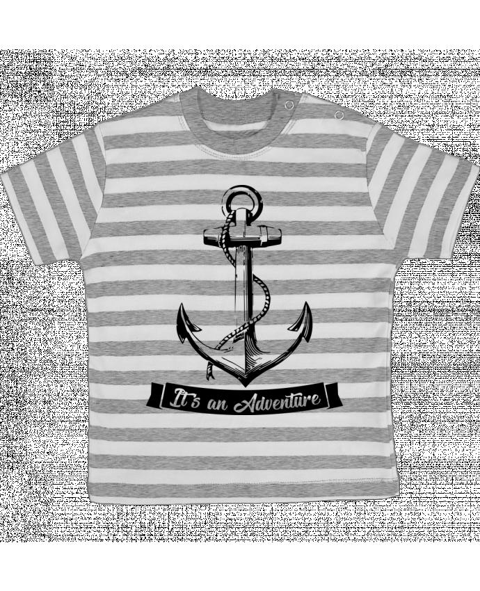 Camiseta Bebé a Rayas It's an Adventure por Freaky Raven