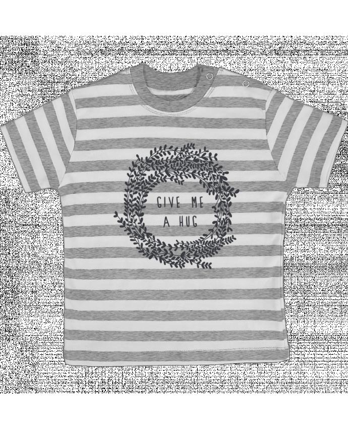 Camiseta Bebé a Rayas Give me a hug por Les Caprices de Filles