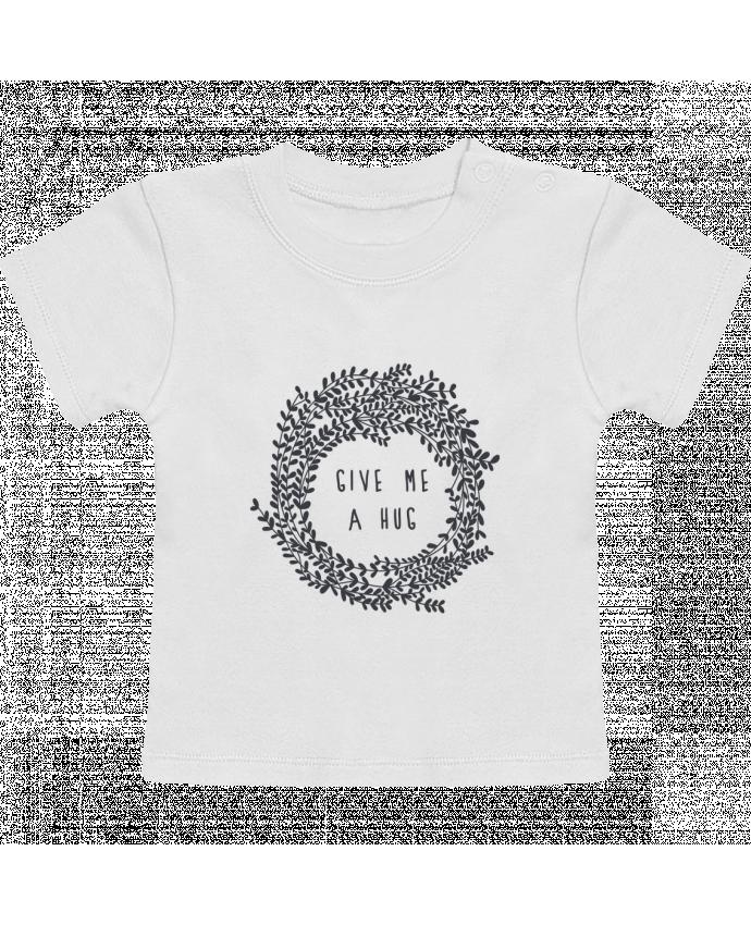 Camiseta Bebé Manga Corta Give me a hug manches courtes du designer Les Caprices de Filles