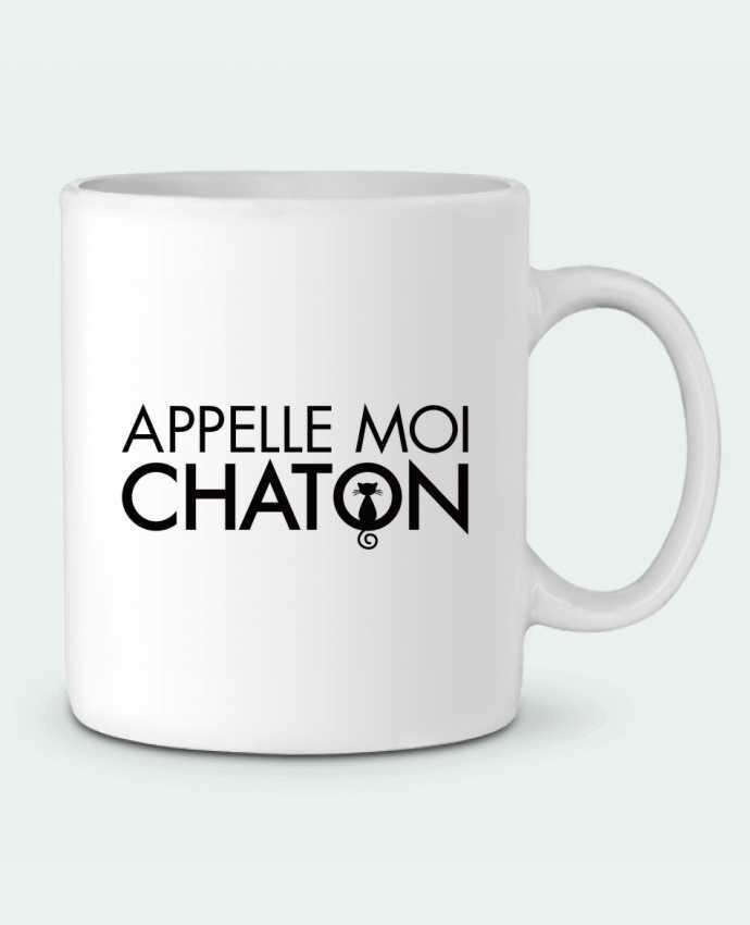 Taza Cerámica Appelle moi Chaton por Freeyourshirt.com