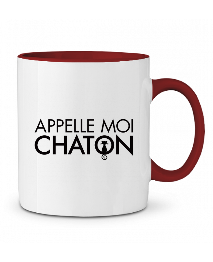 Taza Cerámica Bicolor Appelle moi Chaton Freeyourshirt.com