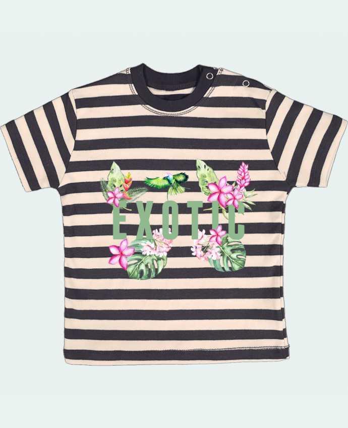 Camiseta Bebé a Rayas Exotic por Les Caprices de Filles