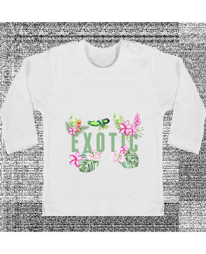 Camiseta Bebé Manga Larga con Botones  Exotic manches longues du designer Les Caprices de Filles