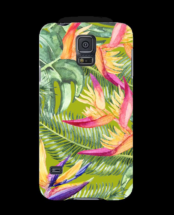 Carcasa 3D Samsung Galaxy S5 Fleurs exotiques por Les Caprices de Filles