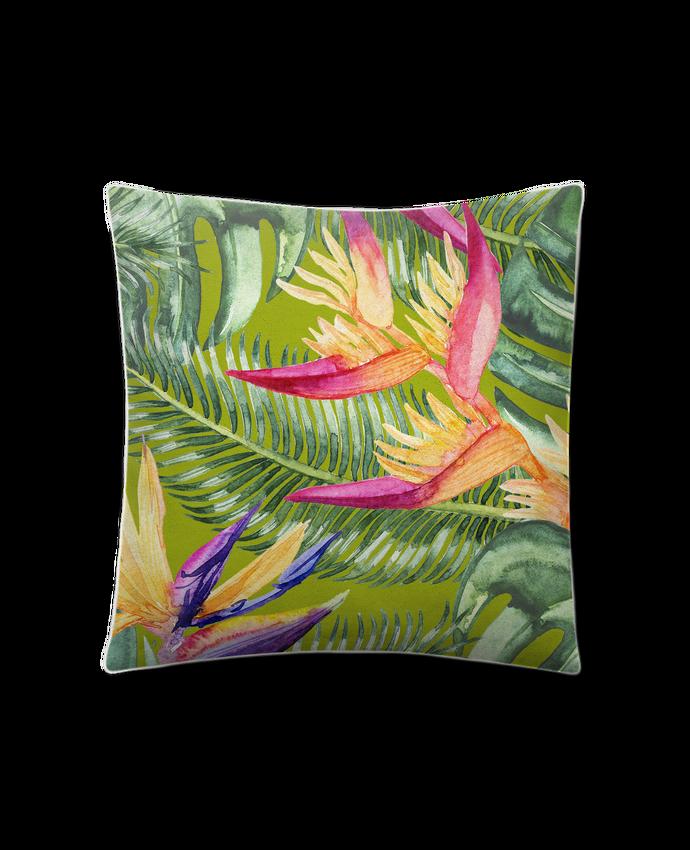 Cojín Piel de Melocotón 45 x 45 cm Fleurs exotiques por Les Caprices de Filles