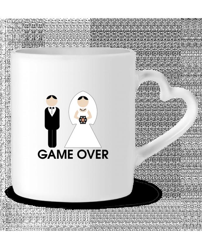 Taza Corazón game over mariage por DUPOND jee
