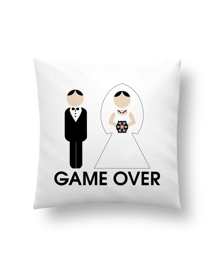 Cojín Sintético Suave 45 x 45 cm game over mariage por DUPOND jee
