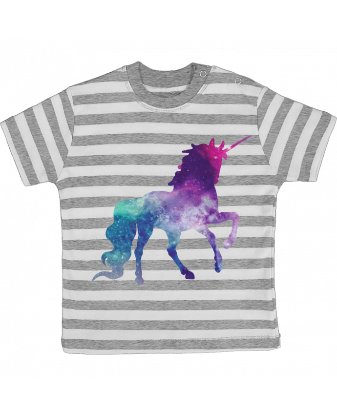 Camiseta Bebé a Rayas Space Unicorn por Crazy-Patisserie.com