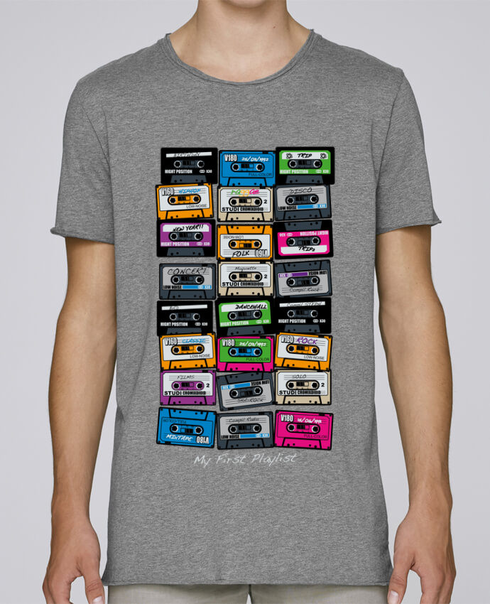 Camiseta Hombre Tallas Grandes Stanly Skates My First Playlist por PDT