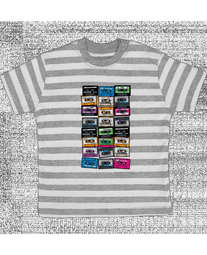 Camiseta Bebé a Rayas My First Playlist por PDT