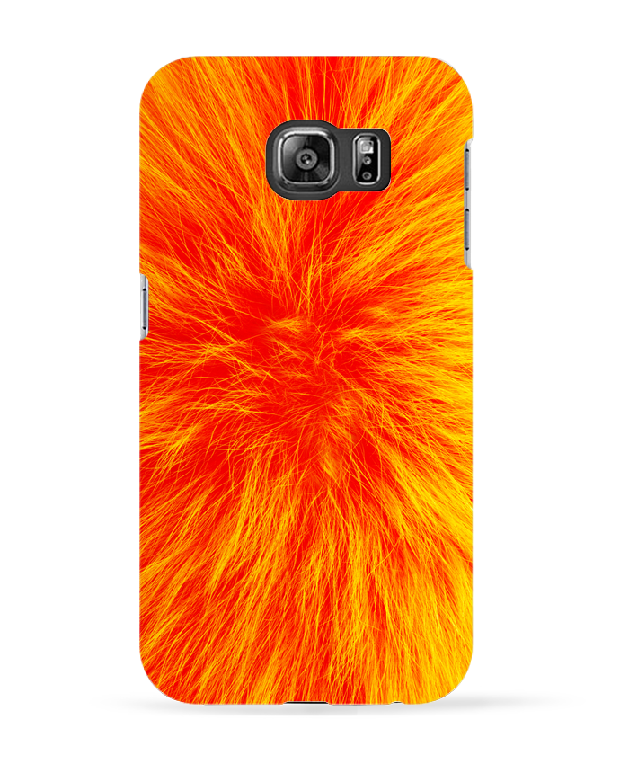 Carcasa Samsung Galaxy S6 Fourrure orange sanguine - Les Caprices de Filles
