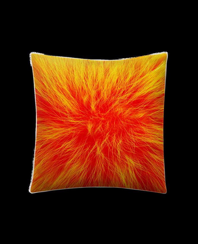 Cojín Piel de Melocotón 45 x 45 cm Fourrure orange sanguine por Les Caprices de Filles