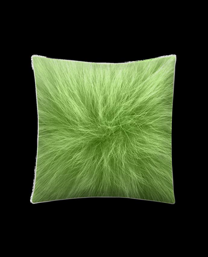 Cojín Piel de Melocotón 45 x 45 cm Fourrure vert pomme por Les Caprices de Filles