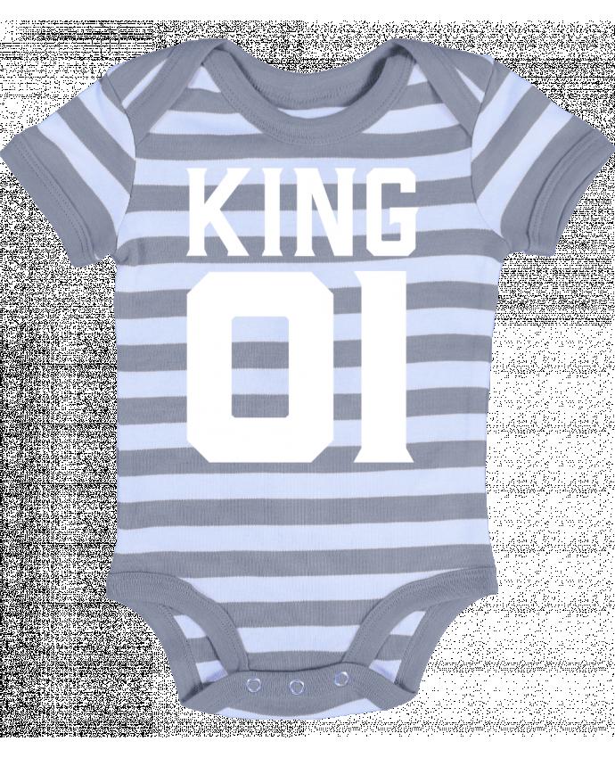 Body Bebé a Rayas king 01 t-shirt cadeau humour - Original t-shirt
