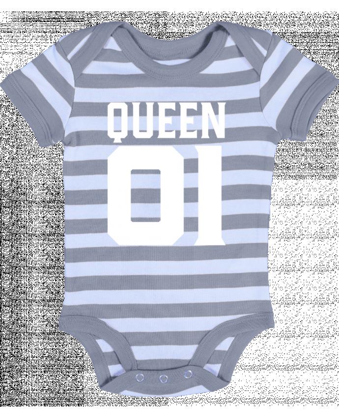 Body Bebé a Rayas queen 01 t-shirt cadeau humour - Original t-shirt