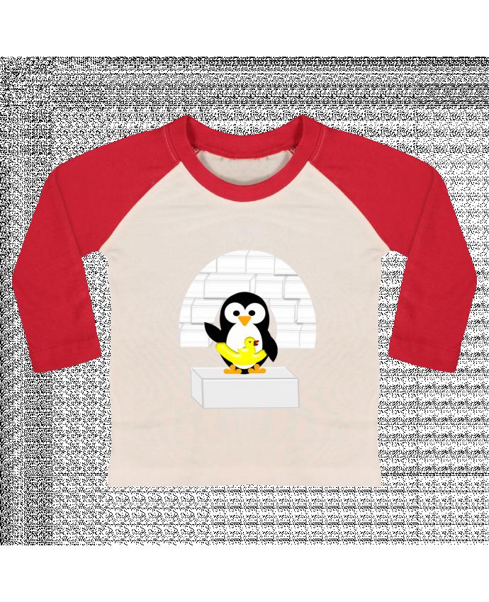Camiseta Bebé Béisbol Manga Larga Le Pingouin por Les Caprices de Filles